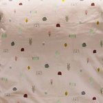 """OYOY - Baby """"Happy Summer"""" Bedding, Cotbed - Perfect for a little girls bedroom is this pale rose 100% cotton bed linen printed with the new 'happy summer' theme."""