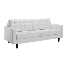 white leather sofas couches houzz - White Leather Sofa