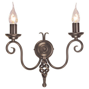 Medieval Double Wall Light, Bronze