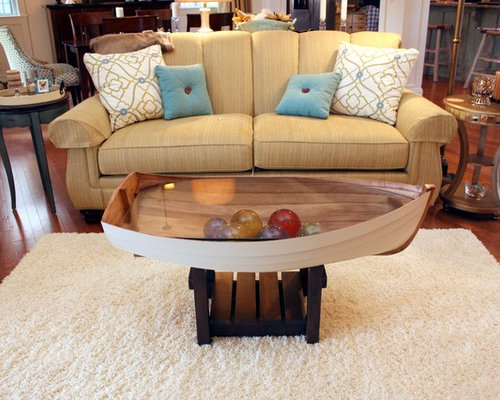 Coffee Table- boat - Products - Living Room- Boat Coffee Table