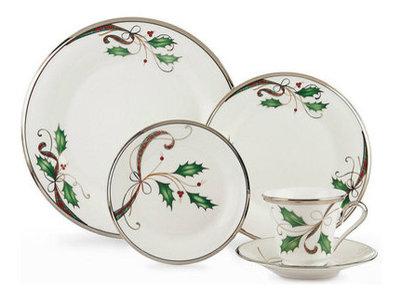 Lenox Holiday Nouveau Platinum White Christmas China for 8  sc 1 st  Houzz & Lenox Holiday Nouveau Platinum White Christmas China for 8 ...