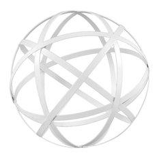 White Iron Garden Sphere, Medium