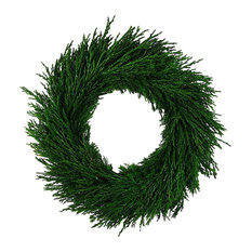 Emerald Cypress Country Manor Wreath 14""