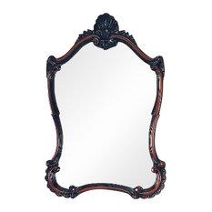Olinda Wall Mirror, Walnut, 55x90 cm