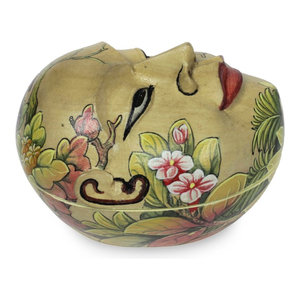 Monkey Wisdoms Calabash Decorative Box Traditional Decorative Boxes By Novica