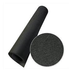 Rubber-Cal Elephant Bark Rubber Flooring Mat, Black, 120x48x0.25 in.
