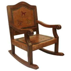Texas Western Rocking Chair Cowhide Southwestern