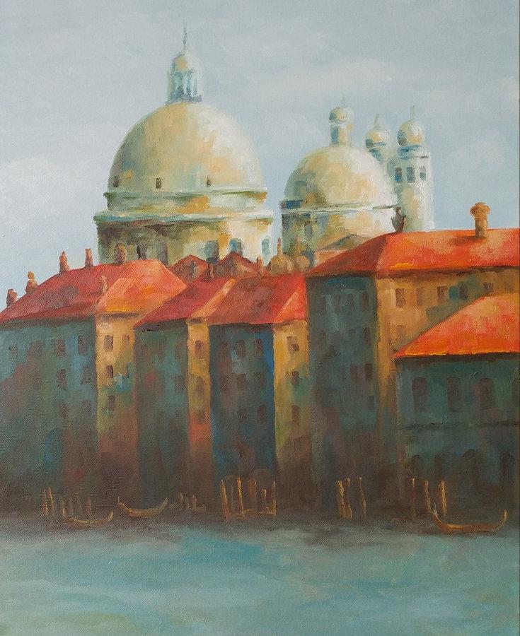 Santa Maria della Salute, Afternoon, 20x16, framed