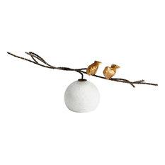 CYAN DESIGN Sculpture Statue Transitional Gold Finches Birds Old