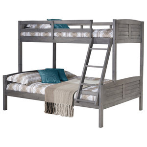 Twin Full Barn Door Bunkbed Drawers Or Trundle Not Included Farmhouse Bunk Beds By Bisonoffice Houzz