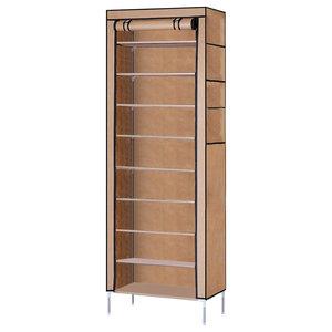Modern Stylish Storage Organizer, Waterproof Fabric With 10 Inner Tiers, Beige