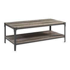 Angle Rustic Coffee Table, Grey Wash