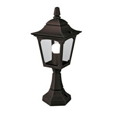 Mini Outdoor Pedestal Lantern, Die-Cast Aluminium