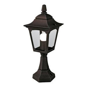 Mini Outdoor Pedestal Lantern, Die-Cast Aluminium
