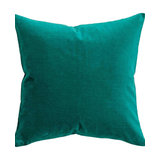 Bright Emerald Velvet Cushion, Feather