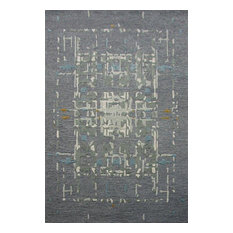 Rizzy Mod Mo995A Rug, Gray, Light Gray, Teal, Gold, 8'x10'