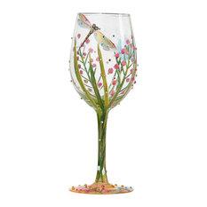 """""""Dragonfly"""" Wine Glass"""