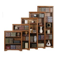 72-inch Oak Ridge Open Bookcase Gold Oak