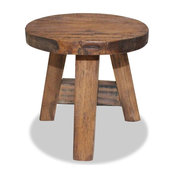 vidaXL Stool Solid Reclaimed Wood Rustic Seat Footstool Rest Side Couch Sofa