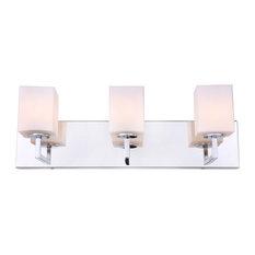 Candice 3-Light Bath, Opal Square Glass, LED G9