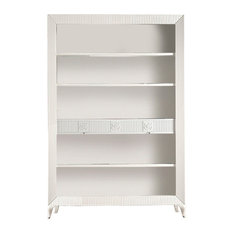 Open Bookcase With 2 Drawers, White