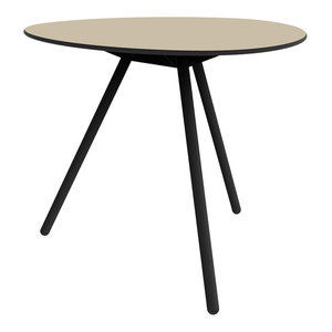 Dine A-Lowha Dining Table, Sand, Black Frame