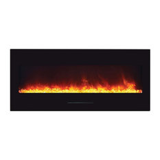Wall Mount / Flush Mount Series Electric Fireplace with Clear Media