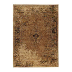"Oriental Weavers Andorra Gold Brown Area Rug, 6845D, 8'6""x11'7"""