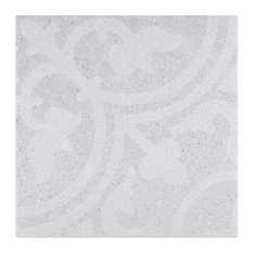 """9.88""""x9.88"""" Forza Porcelain Floor and Wall Tile, Perla"""