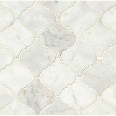 Euro Design From Italy Decorative White Carrara Mosaic