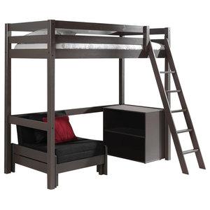 Pino Mezzanine 3-Piece Children's Bedroom Set, Taupe