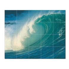 Wave Photo Ceramic Tile Mural Kitchen Backsplash Bathroom Shower 406291-XL54