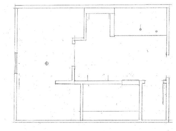Checkered tile bathroom before floor plan