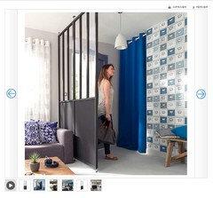 Comment am nager et d corer mon salon cuisine de 24 m - Cloison amovible casto ...