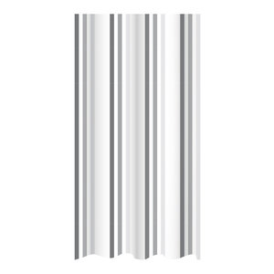 Brighton Rock Striped Shower Curtain, Grey