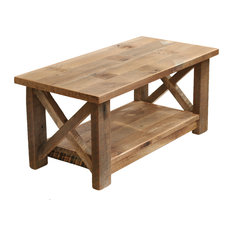 Charmant Farmhouse Coffee Table X Made From Reclaimed Wood, All Natural Wood Color    Coffee