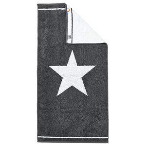 1 Star Beach Towel, Anthracite and White