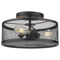 Yarn Industrial Drum Ceiling Light