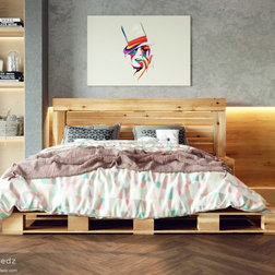 Rustic Platform Beds by Pallet Bedz Company