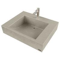 "24"" ADA Floating Concrete Half-Trough Sink, Concrete"