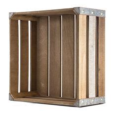 Rustic Wood Storage Crate, Small