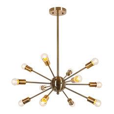 50 most popular midcentury modern chandeliers for 2018 houzz midcentury clear all mod apriori chandelier brass chandeliers aloadofball Gallery