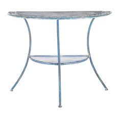 Genson Outdoor End Table Antique Blue