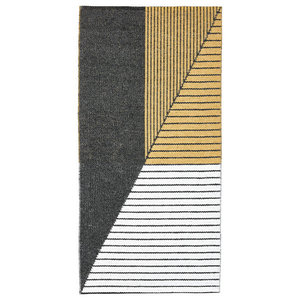 Stripe Woven Vinyl Floor Cloth, Yellow, 70x140 cm