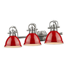 Bathroom Vanity Lights Red bathroom vanity lights with a red shade   houzz
