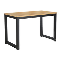 Poly and Bark Daria Office Desk, Natural/Black