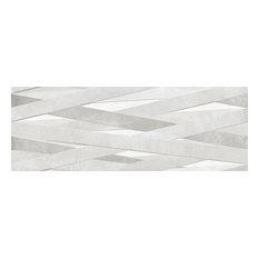 "13""x36"" Laccio Tiles, Set of 4, Cement G/R"