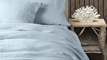Pure Linen Duvet Set Cloudy Blue