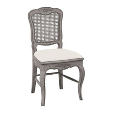 Chateau Dining Chair, Silvered Grey, Fabric Seat