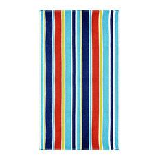 100% Cotton Oceana Stripes Oversized Beach Towel - Blue